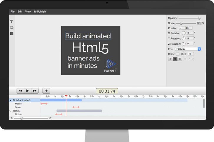 HTML5 banner maker screenshot